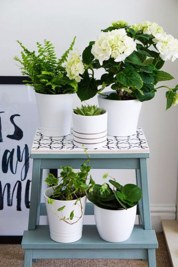 IKEA Hacks For The Bedroom - From Simple Stool To Pretty Plant Stand - Best IKEA Furniture Hack Ideas for Bed, Storage, Nightstand, Closet System and Storage, Dresser, Vanity, Wall Art and Kids Rooms - Easy and Cheap DIY Projects for Affordable Room and Home Decor #ikeahacks #diydecor #bedroomdecor