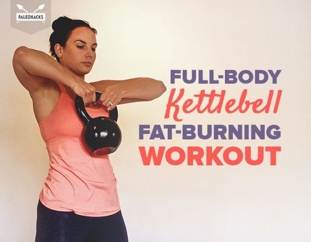 Best Exercises for 2018 - Full-Body Kettlebell Fat-Burning Workout - Easy At Home Exercises - Quick Exercise Tutorials to Try at Lunch Break - Ways To Get In Shape - Butt, Abs, Arms, Legs, Thighs, Tummy