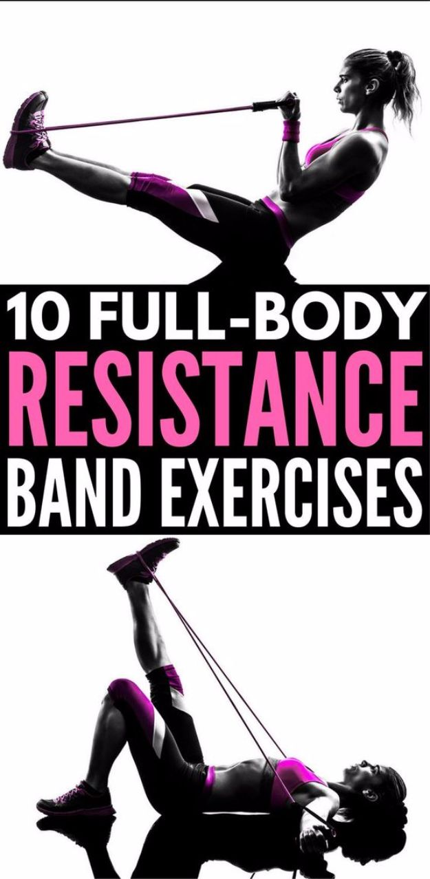 Best Exercises for 2018 - Full Body workout With Resistance Bands - Easy At Home Exercises - Quick Exercise Tutorials to Try at Lunch Break - Ways To Get In Shape - Butt, Abs, Arms, Legs, Thighs, Tummy http://diyjoy.com/best-at-home-exercises-2018