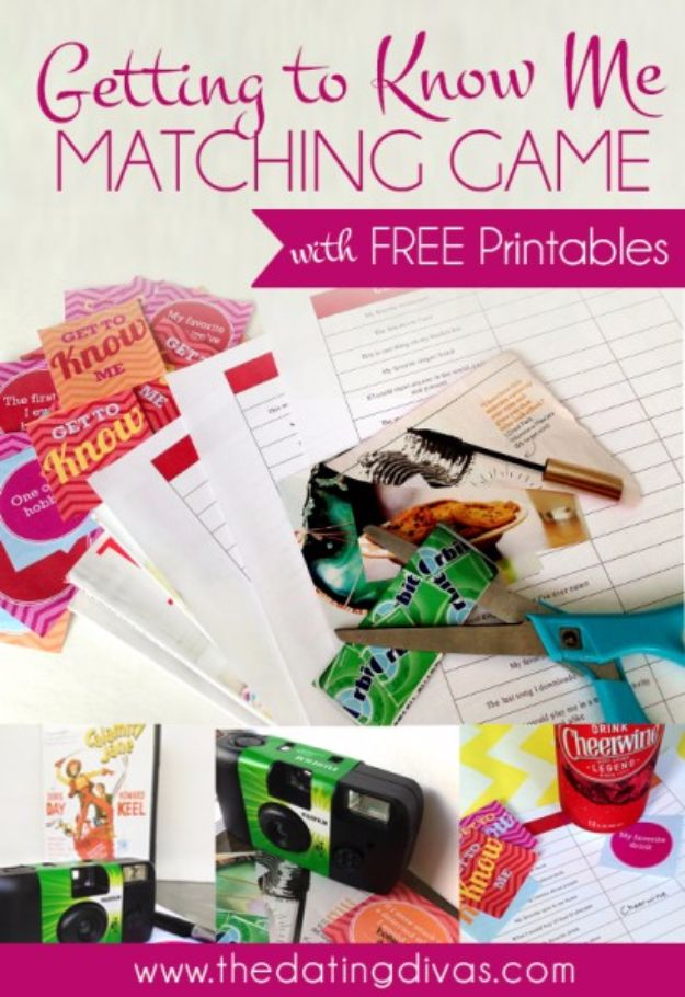Cool Games To Make for Valentines Day - Getting To Know Me Matching Game - Cheap and Easy Crafts For Valentine Parties - Ideas for Kids and Adults to Play Bingo, Matching, Free Printables and Cute Game Projects With Hearts, Red and Pink Art Ideas - Adorable Fun for The Holiday Celebrations #valentine #valentinesday