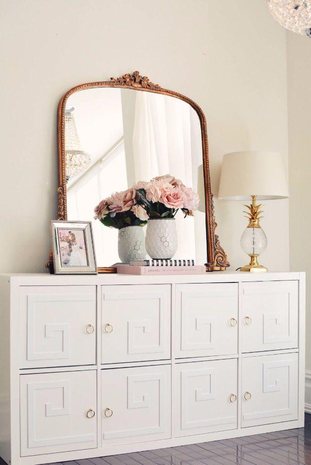 IKEA Kallax Unit Dresser Makeover - Cheap DIY Bedroom Furniture Ideas
