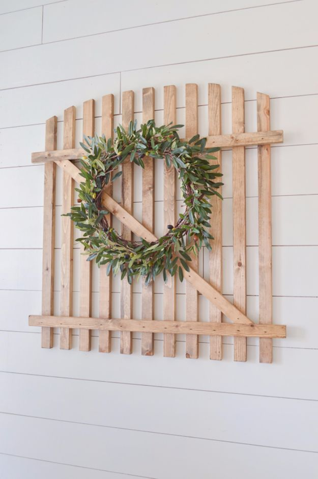 Best DIY Home Decor Crafts - Gorgeous Farmhouse Gate - Easy Craft Ideas To Make From Dollar Store Items - Cheap Wall Art, Easy Do It Yourself Gifts, Modern Wall Art On A Budget, Tabletop and Centerpiece Tutorials - Cool But Affordable Room and Home Decor With Step by Step Tutorials #diyhomedecor