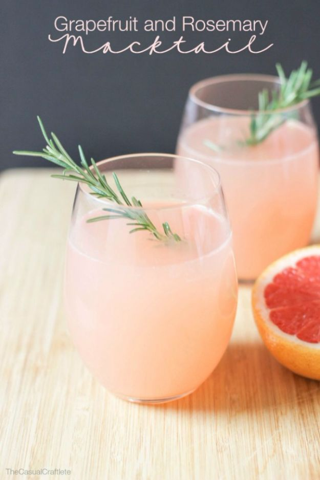 Best Drink Recipes for New Years Eve - Grapefruit and Rosemary Mocktail - Creative Cocktails, Drinks, Champagne Toasts, and Punch Mixes for A New Year's Eve Party - Ideas for Serving, Glasses, Fun Ideas for Shots and Cocktails - Easy Vodka Recipes, Non Alcoholic, Whisky Rum and Party Punches #newyearseve