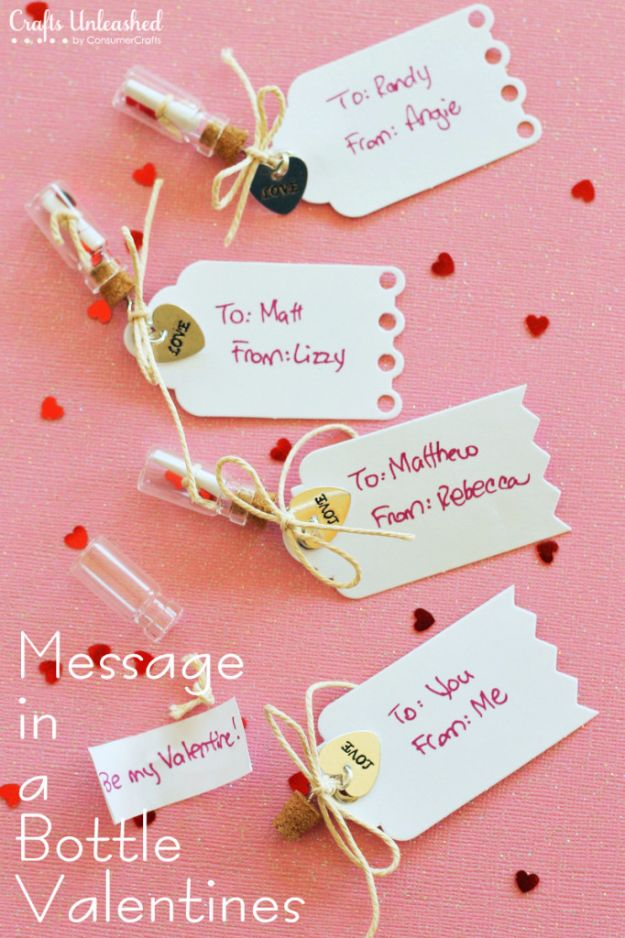 DIY Valentines Day Gifts for Him - Handmade Message in a Bottle Valentines - Cool and Easy Things To Make for Your Husband, Boyfriend, Fiance - Creative and Cheap Do It Yourself Projects to Give Your Man - Ideas Guys Love These Ideas for Car, Yard, Home and Garage - Make, Don't Buy Your Valentine