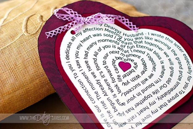 DIY Valentines Day Gifts for Her - Heart Shaped Love Poem - Cool and Easy Things To Make for Your Wife, Girlfriend, Fiance - Creative and Cheap Do It Yourself Projects to Give Your Girl - Ladies Love These Ideas for Bath, Yard, Home and Kitchen, Outdoors - Make, Don't Buy Your Valentine