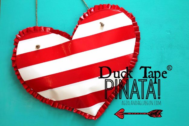 Cool Games To Make for Valentines Day - Heart shaped Pinata for Valentines - Cheap and Easy Crafts For Valentine Parties - Ideas for Kids and Adults to Play Bingo, Matching, Free Printables and Cute Game Projects With Hearts, Red and Pink Art Ideas - Adorable Fun for The Holiday Celebrations #valentine #valentinesday