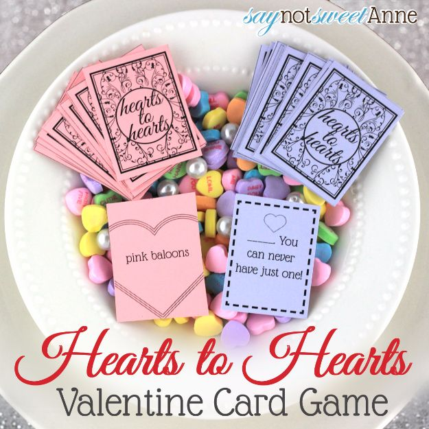 Cool Games To Make for Valentines Day - Hearts To Hearts Printable Card Game - Cheap and Easy Crafts For Valentine Parties - Ideas for Kids and Adults to Play Bingo, Matching, Free Printables and Cute Game Projects With Hearts, Red and Pink Art Ideas - Adorable Fun for The Holiday Celebrations #valentine #valentinesday