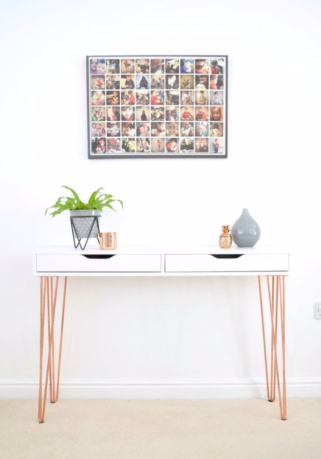 IKEA Hacks For The Bedroom - IKEA Ekby Alex Hairpin Console Table Hack - Best IKEA Furniture Hack Ideas for Bed, Storage, Nightstand, Closet System and Storage, Dresser, Vanity, Wall Art and Kids Rooms - Easy and Cheap DIY Projects for Affordable Room and Home Decor #ikeahacks #diydecor #bedroomdecor