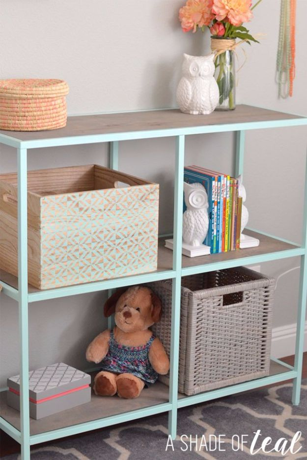 IKEA Hacks For The Bedroom - IKEA Hack Mint Bookshelf - Best IKEA Furniture Hack Ideas for Bed, Storage, Nightstand, Closet System and Storage, Dresser, Vanity, Wall Art and Kids Rooms - Easy and Cheap DIY Projects for Affordable Room and Home Decor #ikeahacks #diydecor #bedroomdecor