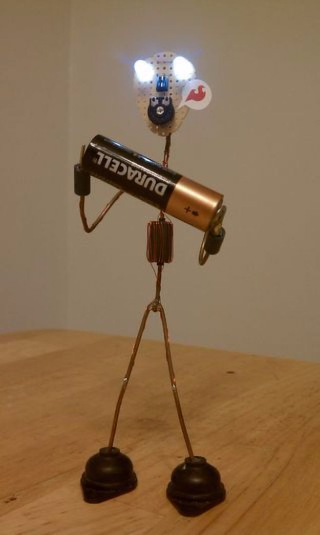 DIY Gadgets - Joel the Joule Thief - Homemade Gadget Ideas and Projects for Men, Women, Teens and Kids - Steampunk Inventions, How To Build Easy Electronics, Cool Spy Gear and Do It Yourself Tech Toys http://diyjoy.com/diy-gadgets
