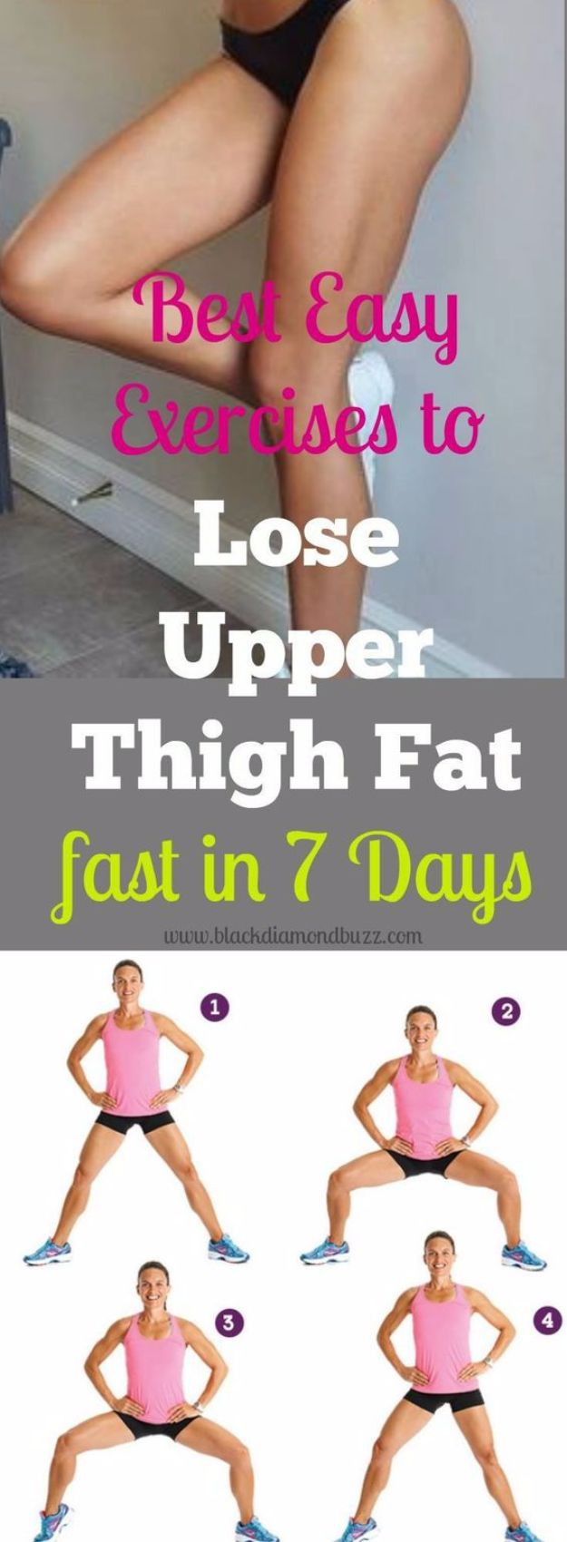Best Exercises for 2018 - Lose Upper Thigh Fat Fast - Easy At Home Exercises - Quick Exercise Tutorials to Try at Lunch Break - Ways To Get In Shape - Butt, Abs, Arms, Legs, Thighs, Tummy http://diyjoy.com/best-at-home-exercises-2018