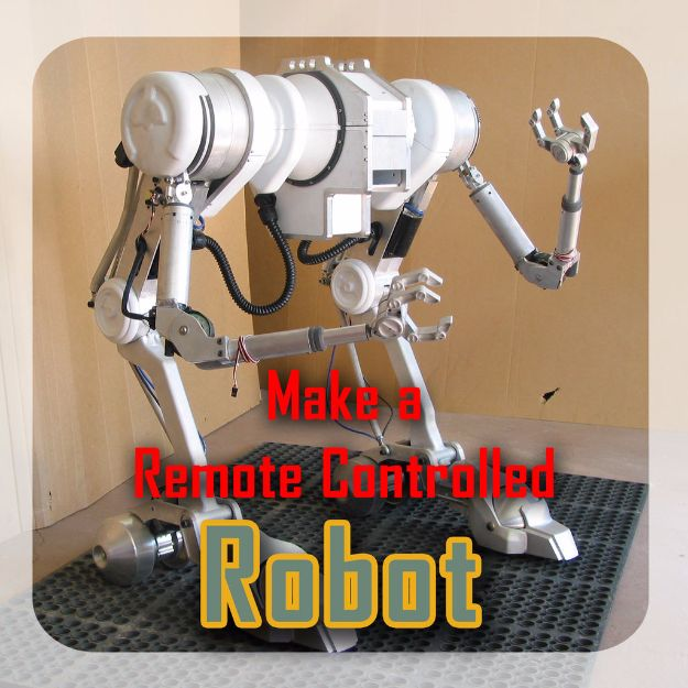 DIY Gadgets - Make A RC Robot - Homemade Gadget Ideas and Projects for Men, Women, Teens and Kids - Steampunk Inventions, How To Build Easy Electronics, Cool Spy Gear and Do It Yourself Tech Toys #gadgets #diy #stem #diytoys