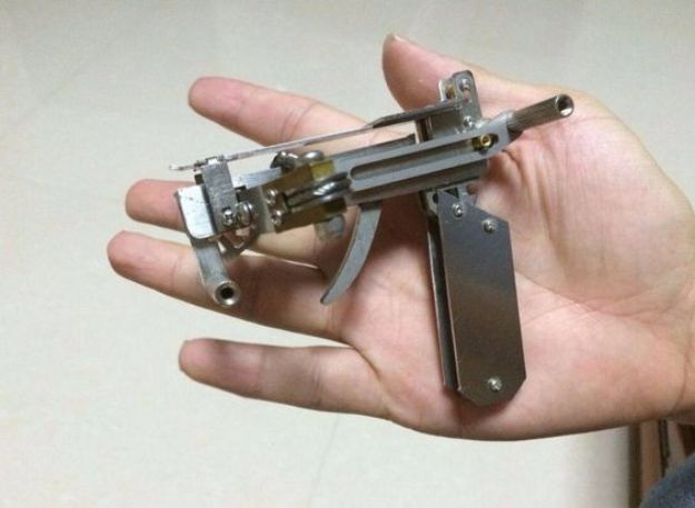 DIY Gadgets - Micro BB Crossbow - Homemade Gadget Ideas and Projects for Men, Women, Teens and Kids - Steampunk Inventions, How To Build Easy Electronics, Cool Spy Gear and Do It Yourself Tech Toys #gadgets #diy #stem #diytoys