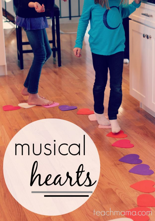 Cool Games To Make for Valentines Day - Musical Hearts - Cheap and Easy Crafts For Valentine Parties - Ideas for Kids and Adults to Play Bingo, Matching, Free Printables and Cute Game Projects With Hearts, Red and Pink Art Ideas - Adorable Fun for The Holiday Celebrations #valentine #valentinesday