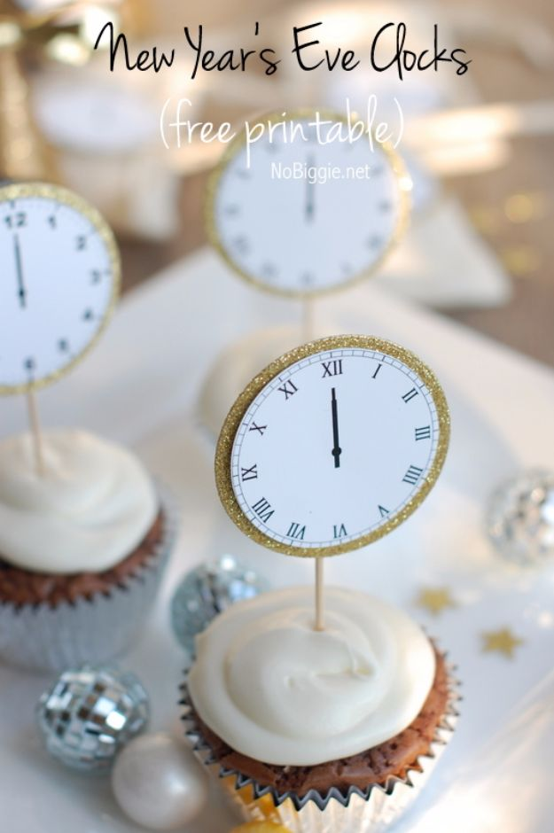 New Years Eve Decor Ideas - New Year's Eve Midnight Clock Printable - DIY New Year's Eve Decorations - Cheap Ideas for Banners, Balloons, Party Tables, Centerpieces and Festive Streamers and Lights - Cool Placecards, Photo Backdrops, Party Hats, Party Horns and Champagne Glasses - Cute Invitations, Games and Free Printables #diy #newyearseve #parties