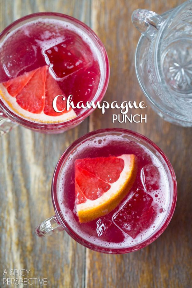 Best Drink Recipes for New Years Eve - New Years Eve Champagne Punch - Creative Cocktails, Drinks, Champagne Toasts, and Punch Mixes for A New Year's Eve Party - Ideas for Serving, Glasses, Fun Ideas for Shots and Cocktails - Easy Vodka Recipes, Non Alcoholic, Whisky Rum and Party Punches #newyearseve