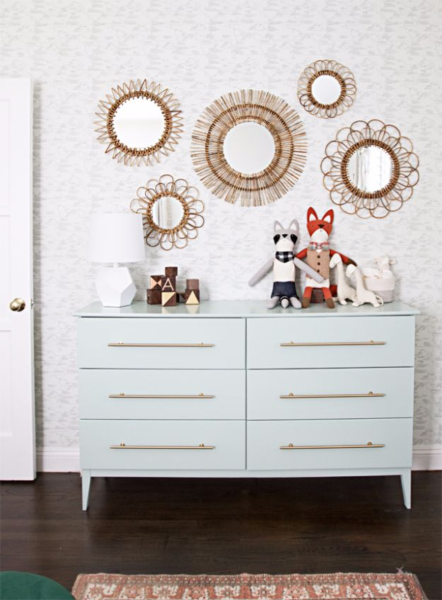 IKEA Hacks For The Bedroom - Nursery Dresser IKEA Hack - Best IKEA Furniture Hack Ideas for Bed, Storage, Nightstand, Closet System and Storage, Dresser, Vanity, Wall Art and Kids Rooms - Easy and Cheap DIY Projects for Affordable Room and Home Decor #ikeahacks #diydecor #bedroomdecor