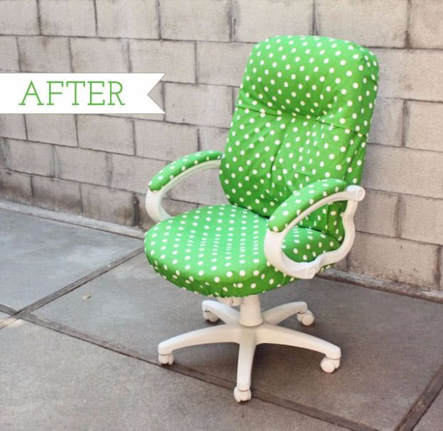 Best Furniture Hacks - Office Chair Redo - Easy DIY Furniture Makeover Ideas for Cheap Home Decor - IKEA Hack Tutorials, Dressers, Cribs, Storage, For Kids, Bedroom and Good Ideas for Bath - Anthropologie, Walmart, Kmart, Target http://diyjoy.com/best-furniture-hacks