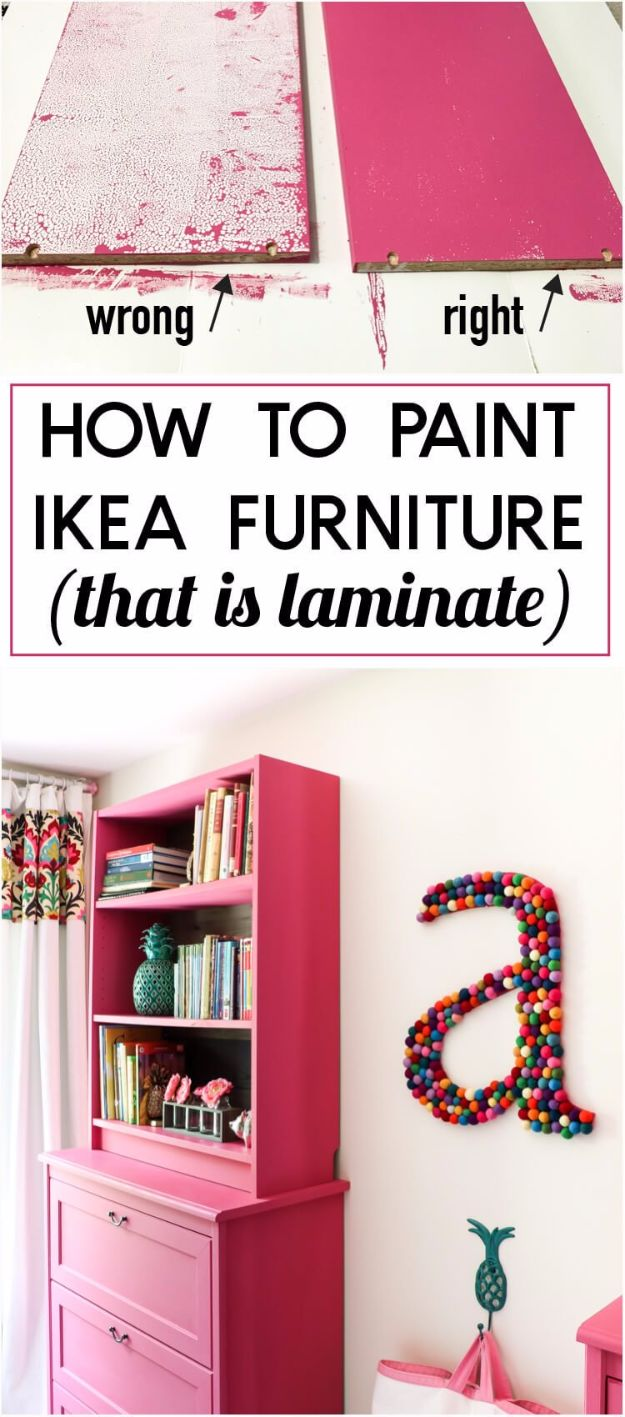 IKEA Hacks For The Bedroom - Paint A Laminate IKEA Furniture - Best IKEA Furniture Hack Ideas for Bed, Storage, Nightstand, Closet System and Storage, Dresser, Vanity, Wall Art and Kids Rooms - Easy and Cheap DIY Projects for Affordable Room and Home Decor #ikeahacks #diydecor #bedroomdecor