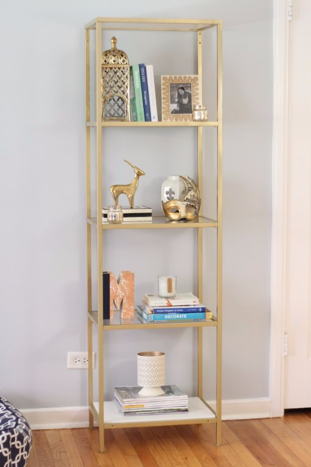 IKEA Hacks For The Bedroom - Painted IKEA Vittsjo Bookcase - Best IKEA Furniture Hack Ideas for Bed, Storage, Nightstand, Closet System and Storage, Dresser, Vanity, Wall Art and Kids Rooms - Easy and Cheap DIY Projects for Affordable Room and Home Decor #ikeahacks #diydecor #bedroomdecor