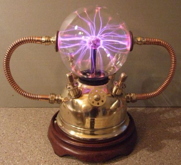 DIY Gadgets - Plasma Ball Lamp - Homemade Gadget Ideas and Projects for Men, Women, Teens and Kids - Steampunk Inventions, How To Build Easy Electronics, Cool Spy Gear and Do It Yourself Tech Toys #gadgets #diy #stem #diytoys