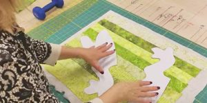 After She Sews Fabric Strips Together, She Makes A Fun And Adorable Item. Watch!