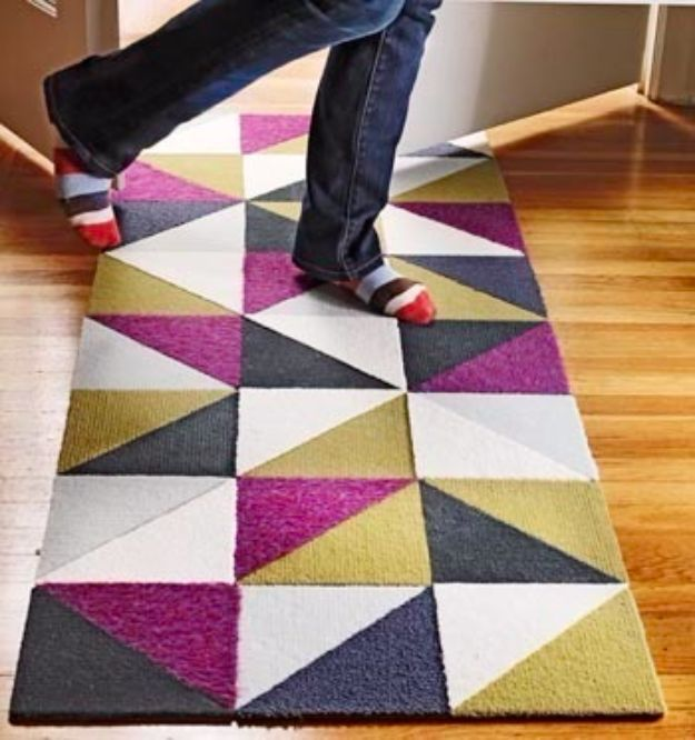 DIY Ideas With Carpet Scraps - Recycle Carpet Samples - Cool Crafts To Make With Old Carpet Remnants - Cheap Do It Yourself Gifts and Home Decor on A Budget - Creative But Cheap Ideas for Decorating Your House and Room - Painted, No Sew and Creative Arts and Craft Projects http://diyjoy.com/diy-ideas-carpet-scraps