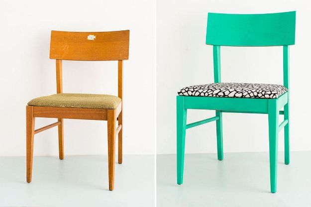 Best Furniture Hacks - Reupholster a Thrift Store Chair in 4 Easy Steps - Easy DIY Furniture Makeover Ideas for Cheap Home Decor - IKEA Hack Tutorials, Dressers, Cribs, Storage, For Kids, Bedroom and Good Ideas for Bath - Anthropologie, Walmart, Kmart, Target http://diyjoy.com/best-furniture-hacks