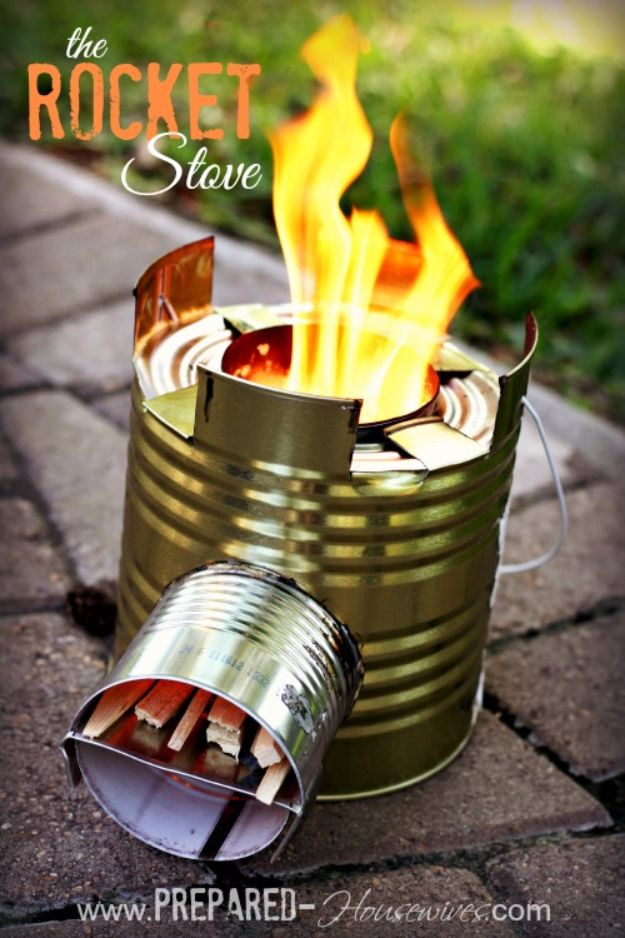 Cool DIY Gadgets - Rocket Stove - Homemade Gadget Ideas and Projects for Men, Women, Teens and Kids - Steampunk Inventions, How To Build Easy Electronics, Cool Spy Gear and Do It Yourself Tech Toys