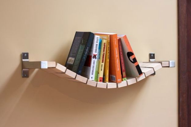 IKEA Hacks For The Bedroom - Rope Bridge Bookshelf - Best IKEA Furniture Hack Ideas for Bed, Storage, Nightstand, Closet System and Storage, Dresser, Vanity, Wall Art and Kids Rooms - Easy and Cheap DIY Projects for Affordable Room and Home Decor #ikeahacks #diydecor #bedroomdecor