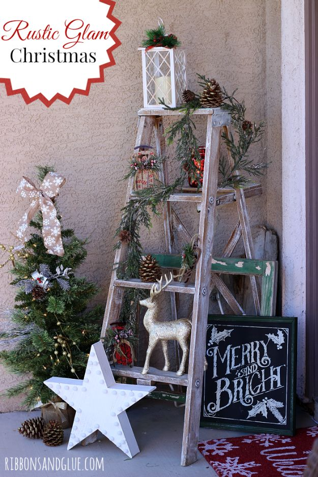 Cheap DIY Christmas Decor Ideas and Holiday Decorating On A Budget - Rustic Glam Christmas - Easy and Quick Decorating Ideas for The Holidays - Cool Dollar Store Crafts for Xmas Decorating On A Budget - wreaths, ornaments, bows, mantel decor, front door, tree and table centerpieces #christmas #diy #crafts