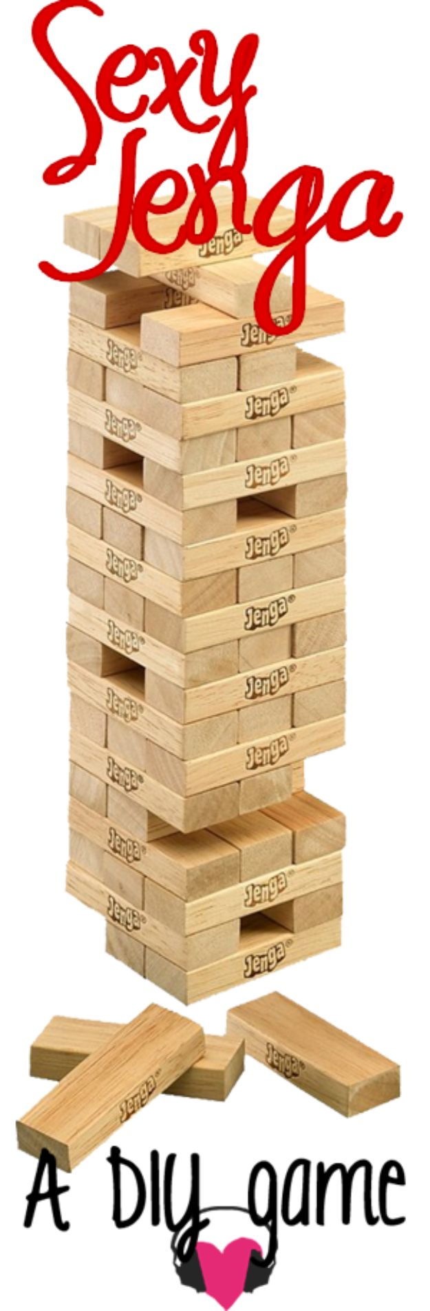 Cool Games To Make for Valentines Day - Sexy Jenga - Cheap and Easy Crafts For Valentine Parties - Ideas for Kids and Adults to Play Bingo, Matching, Free Printables and Cute Game Projects With Hearts, Red and Pink Art Ideas - Adorable Fun for The Holiday Celebrations #valentine #valentinesday