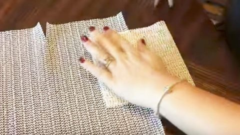 Perfect for Decorating This Time Of Year, This Easy DIY Uses Dollar Store Shelf Liners | DIY Joy Projects and Crafts Ideas