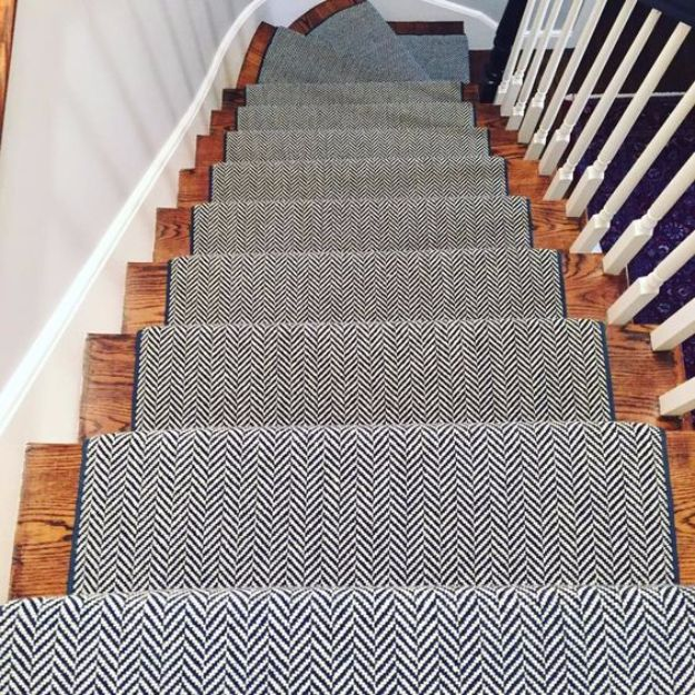 DIY Ideas With Carpet Scraps - Stair Carpet Runners - Cool Crafts To Make With Old Carpet Remnants - Cheap Do It Yourself Gifts and Home Decor on A Budget - Creative But Cheap Ideas for Decorating Your House and Room - Painted, No Sew and Creative Arts and Craft Projects http://diyjoy.com/diy-ideas-carpet-scraps