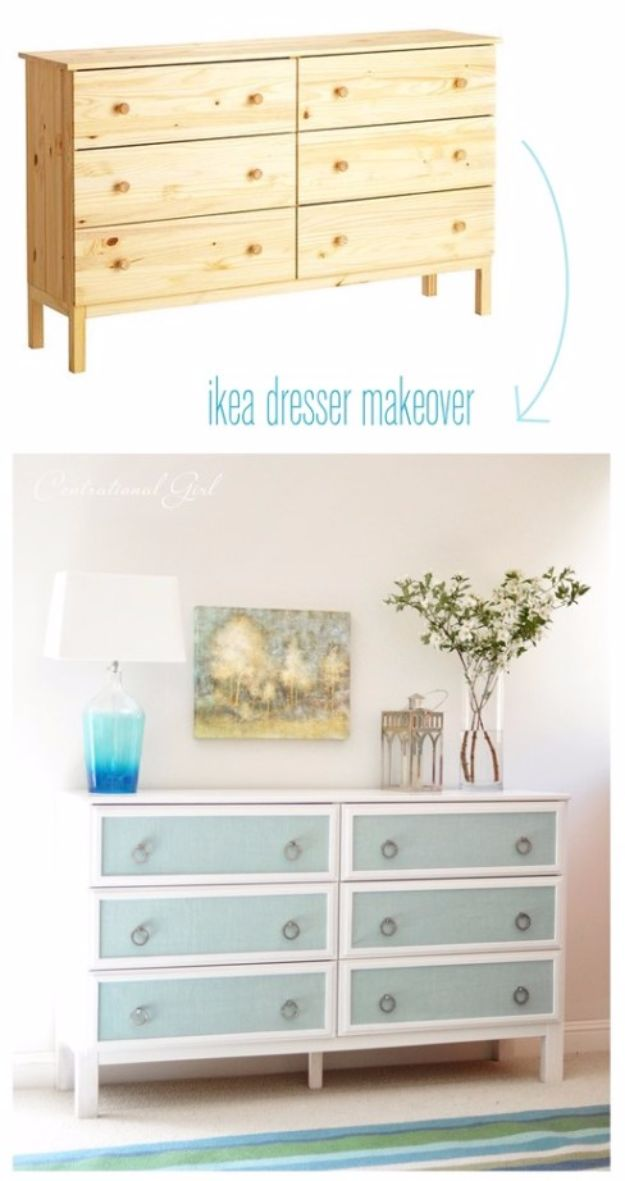 IKEA Hacks For The Bedroom - Textured Panel Dresser Makeover - Best IKEA Furniture Hack Ideas for Bed, Storage, Nightstand, Closet System and Storage, Dresser, Vanity, Wall Art and Kids Rooms - Easy and Cheap DIY Projects for Affordable Room and Home Decor #ikeahacks #diydecor #bedroomdecor