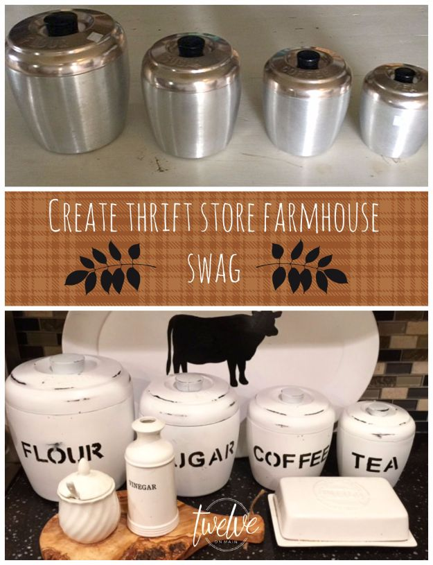 Best DIY Home Decor Crafts - Thrift Store Farmhouse Swag - Easy Craft Ideas To Make From Dollar Store Items - Cheap Wall Art, Easy Do It Yourself Gifts, Modern Wall Art On A Budget, Tabletop and Centerpiece Tutorials - Cool But Affordable Room and Home Decor With Step by Step Tutorials #diyhomedecor