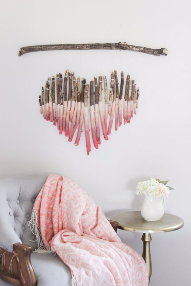 Best DIY Home Decor Crafts - Tree Branches Wall Art - Easy Craft Ideas To Make From Dollar Store Items - Cheap Wall Art, Easy Do It Yourself Gifts, Modern Wall Art On A Budget, Tabletop and Centerpiece Tutorials - Cool But Affordable Room and Home Decor With Step by Step Tutorials #diyhomedecor