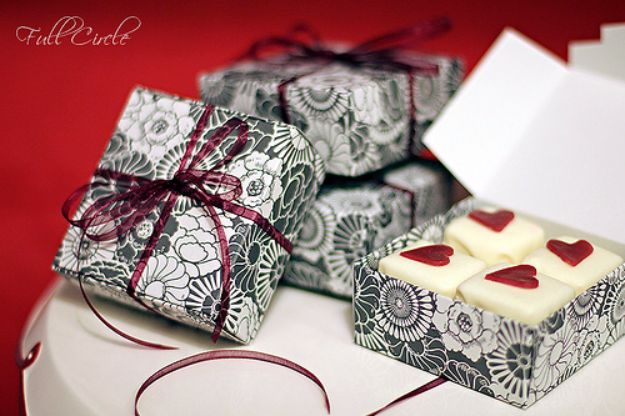 DIY Valentines Day Gifts for Him - Valentine Petit Fours - Cool and Easy Things To Make for Your Husband, Boyfriend, Fiance - Creative and Cheap Do It Yourself Projects to Give Your Man - Ideas Guys Love These Ideas for Car, Yard, Home and Garage - Make, Don't Buy Your Valentine http://diyjoy.com/diy-valentines-gifts-him
