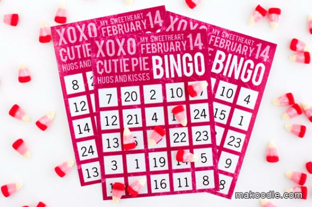 Cool Games To Make for Valentines Day - Valentines Bingo - Cheap and Easy Crafts For Valentine Parties - Ideas for Kids and Adults to Play Bingo, Matching, Free Printables and Cute Game Projects With Hearts, Red and Pink Art Ideas - Adorable Fun for The Holiday Celebrations #valentine #valentinesday