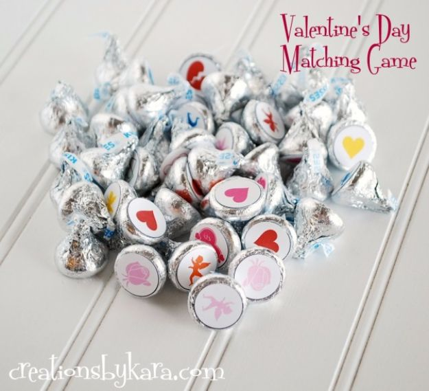 Cool Games To Make for Valentines Day - Valentines Day Matching Game - Cheap and Easy Crafts For Valentine Parties - Ideas for Kids and Adults to Play Bingo, Matching, Free Printables and Cute Game Projects With Hearts, Red and Pink Art Ideas - Adorable Fun for The Holiday Celebrations #valentine #valentinesday