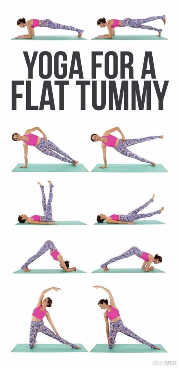 Best Exercises for 2018 - Yoga For A Flat Tummy - Easy At Home Exercises - Quick Exercise Tutorials to Try at Lunch Break - Ways To Get In Shape - Butt, Abs, Arms, Legs, Thighs, Tummy http://diyjoy.com/best-at-home-exercises-2018