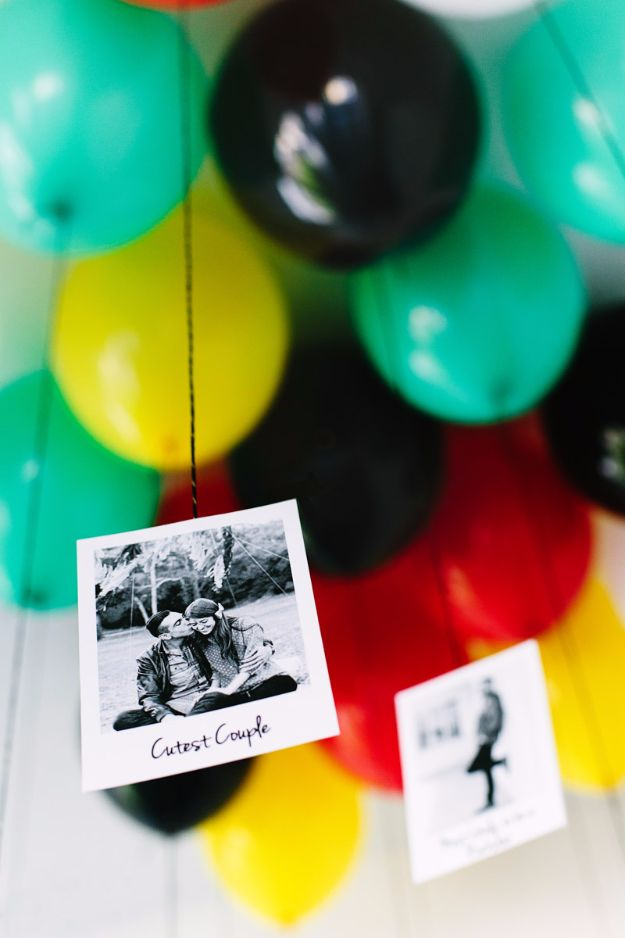 DIY Valentines Day Gifts for Him - Your Picture Tied To Balloons - Cool and Easy Things To Make for Your Husband, Boyfriend, Fiance - Creative and Cheap Do It Yourself Projects to Give Your Man - Ideas Guys Love These Ideas for Car, Yard, Home and Garage - Make, Don't Buy Your Valentine http://diyjoy.com/diy-valentines-gifts-him