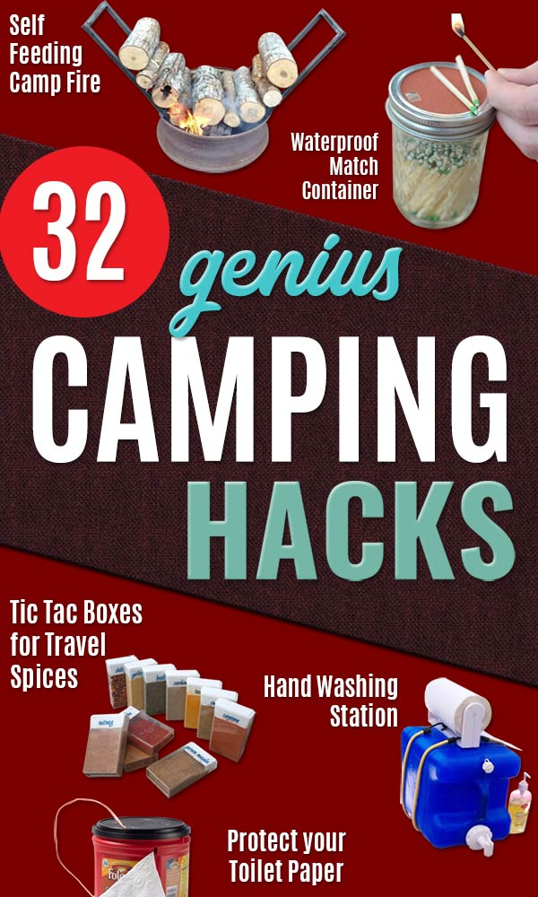 DIY Camping Hacks - Easy Tips and Tricks, Recipes for Camping - Gear Ideas, Cheap Camping Supplies, Tutorials for Making Quick Camping Food, Fire Starters, Gear Holders and Outdoor Living Tricks - Lifehacks for Your Camp Trip #camping #campingrips #diy http://diyjoy.com/camping-hacks