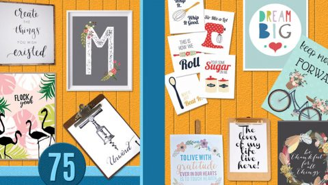 75 Free Printables for Walls | DIY Joy Projects and Crafts Ideas