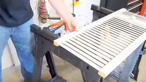 Watch How He Makes This Brilliant Item With An Old Set Of Closet Doors! | DIY Joy Projects and Crafts Ideas
