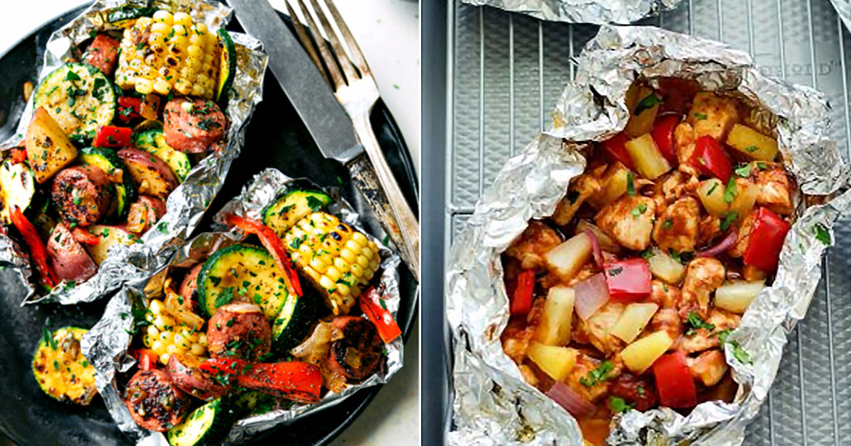These 34 Tin Foil Recipes Are Perfect for Camping or An Easy