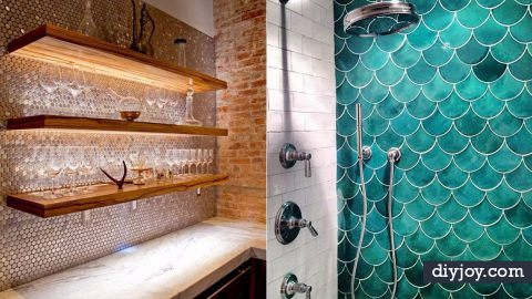 32 Stunning Tile Ideas For Your Home | DIY Joy Projects and Crafts Ideas