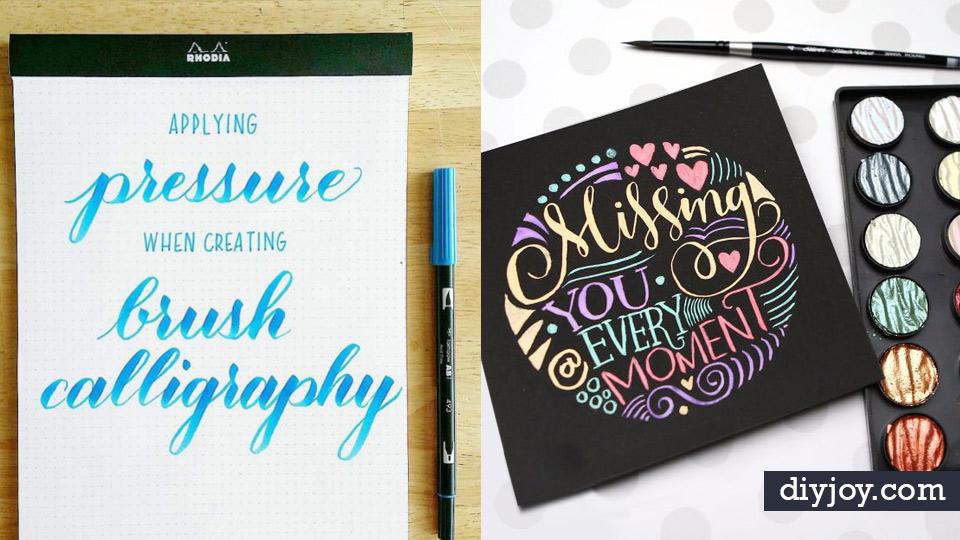 Brush Lettering Tutorials