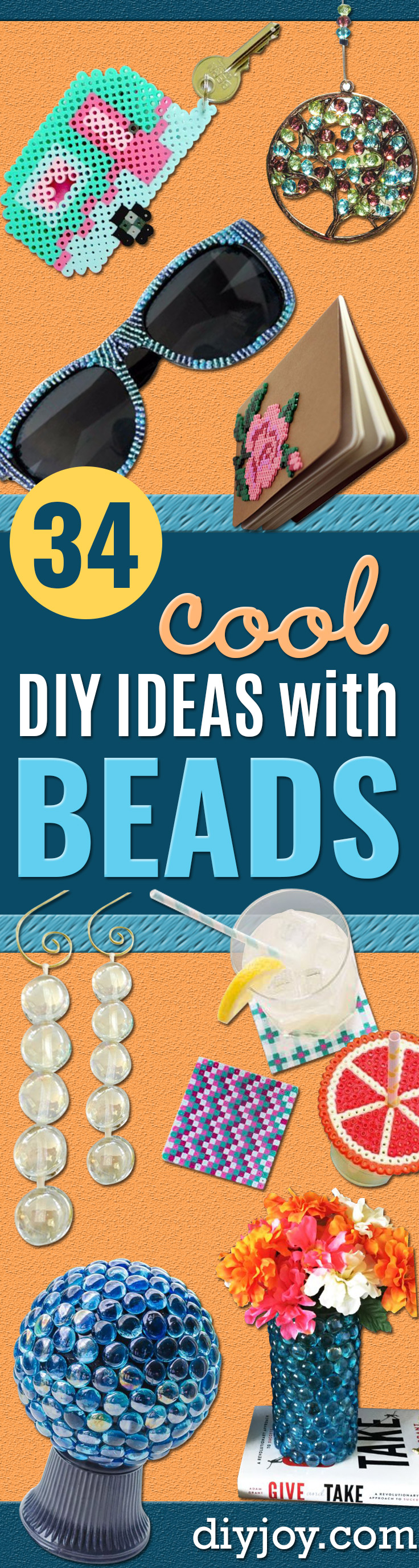 DIY Ideas With Beads - Cool Crafts and Do It Yourself Ideas Made With Beads - Outdoor Windchimes, Indoor Wall Art, Cute and Easy DIY Gifts - Fun Projects for Kids, Adults and Teens - Bead Project Tutorials With Step by Step Instructions - Best Crafts To Make and Sell on Etsy