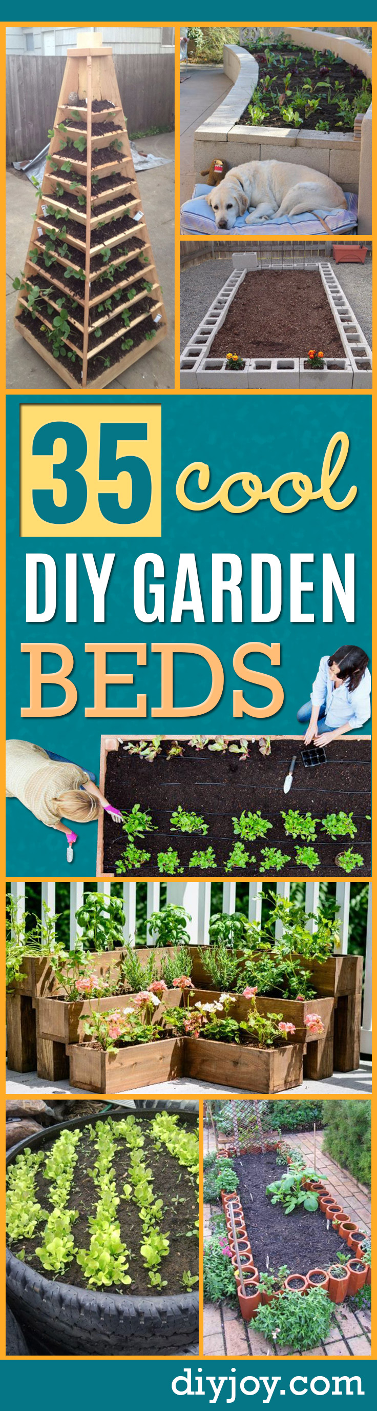 DIY Garden Beds - Easy Gardening Ideas for Raised Beds and Planter Boxes - Free Plans, Tutorials and Step by Step Tutorials for Building and Landscaping Projects - Update Your Backyard and Gardens With These Cheap Do It Yourself Ideas http://diyjoy.com/diy-garden-beds